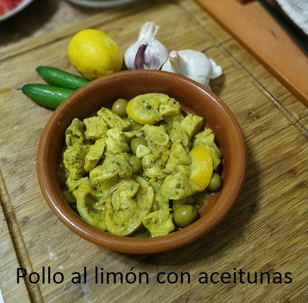 Pollo al limón con aceitunas