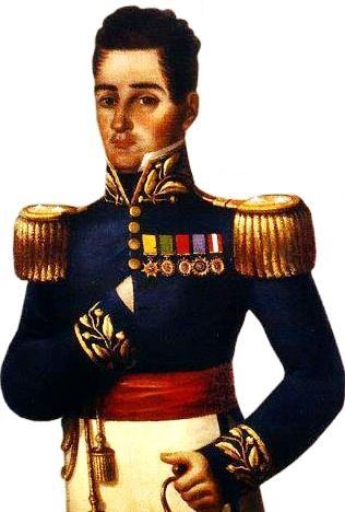 Dibujo de José María Córdova a colores