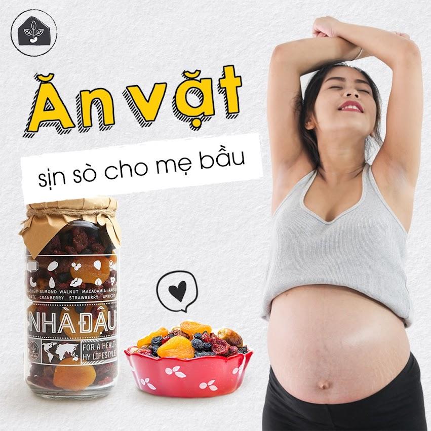 Combo ăn vặt giúp Mẹ Bầu 6 tháng phòng ngừa thiếu dinh dưỡng