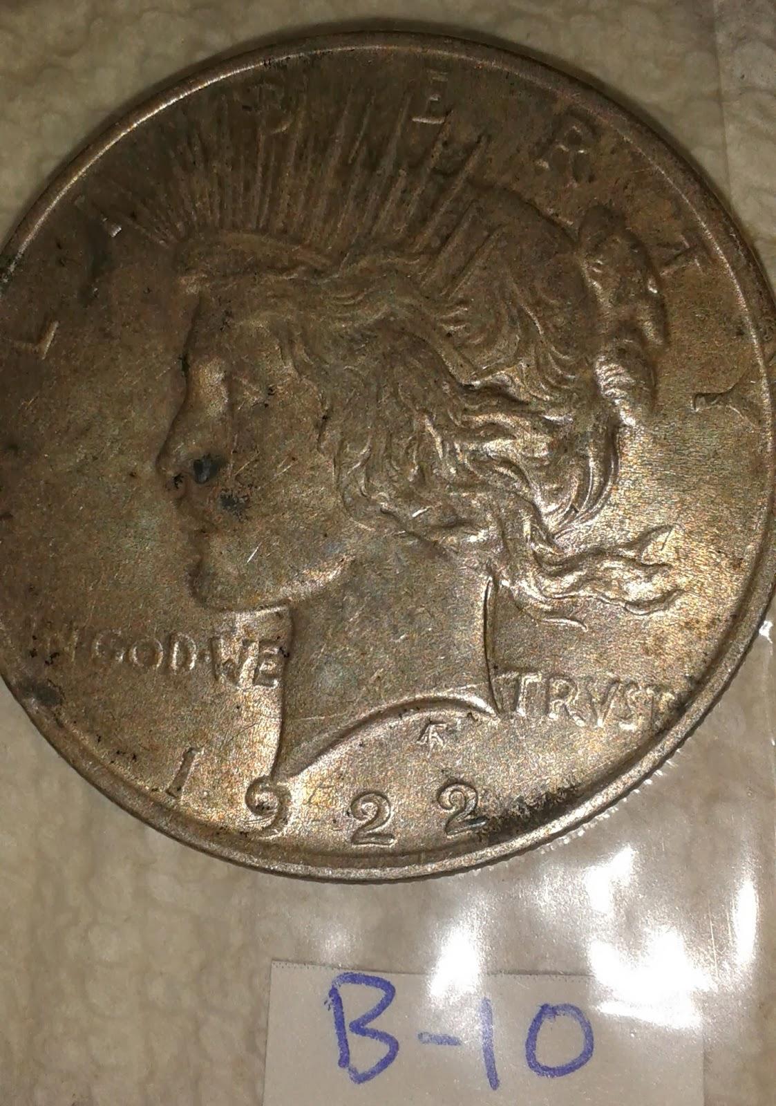 Antiques Texas City 1922 Silver Dollar Coin Peace Dollar