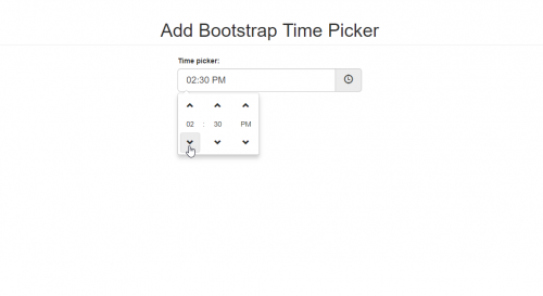 How to Add Bootstrap Time Picker ~ PinoySourceCode