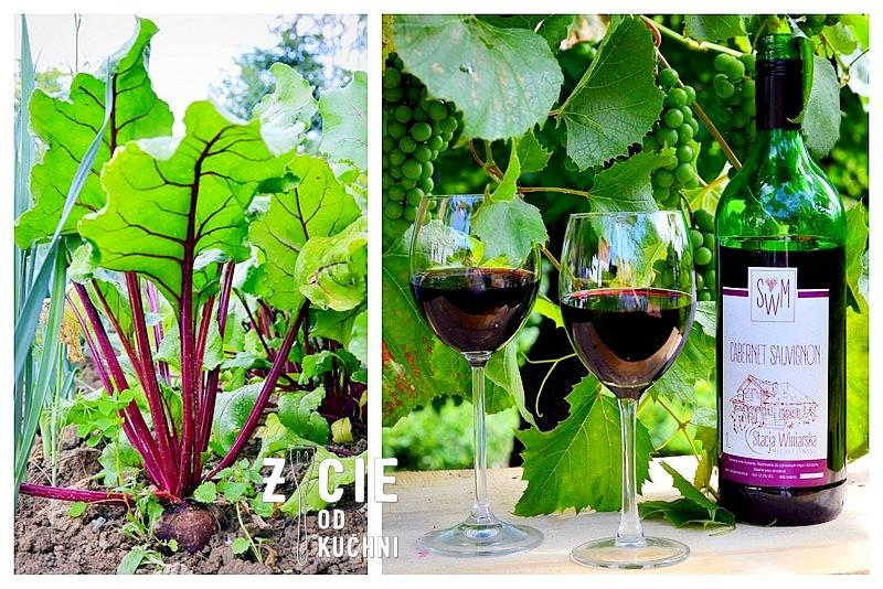 stacja winiarska michalowice, cabernet sauvignon, poledwica wolowa, befsztyk wolowy, czerwone wino, botwinka, buraki, buraki marynowane,