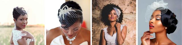 penteados para noivas usando voillete com cabelos pro lado