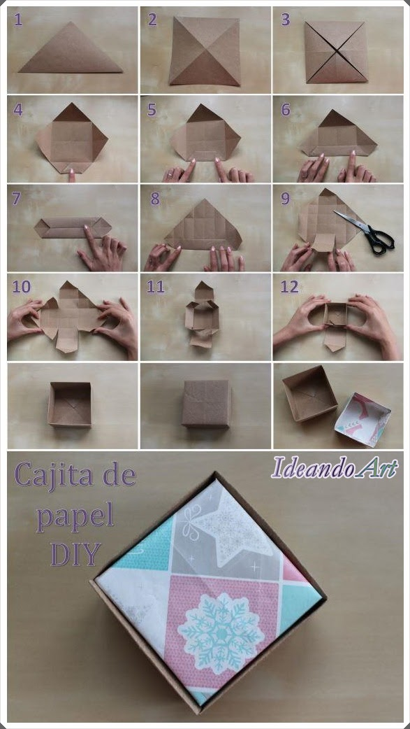 Tutorial cajita de papel DIY