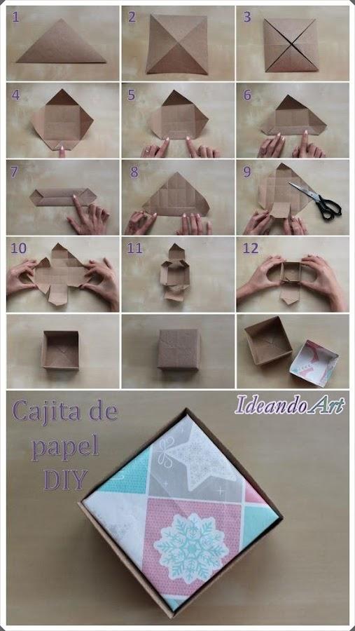 Tutorial cajita de papel DIY