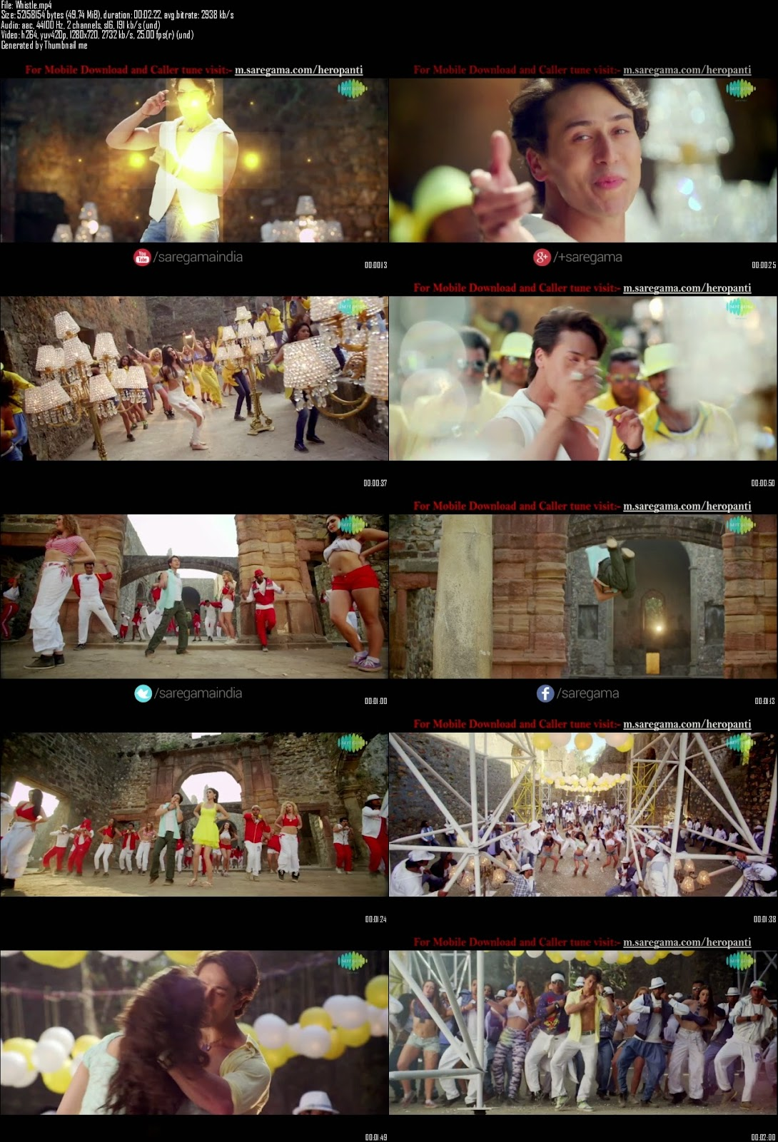 Mediafire Resumable Download Link For Video Song Whistle Baja - Heropanti (2014)