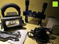 Lieferumfang: as - Schwabe Chip-LED-Akku-Strahler 10 W, geeignet für Außenbereich, Gewerbe, blau, 46971