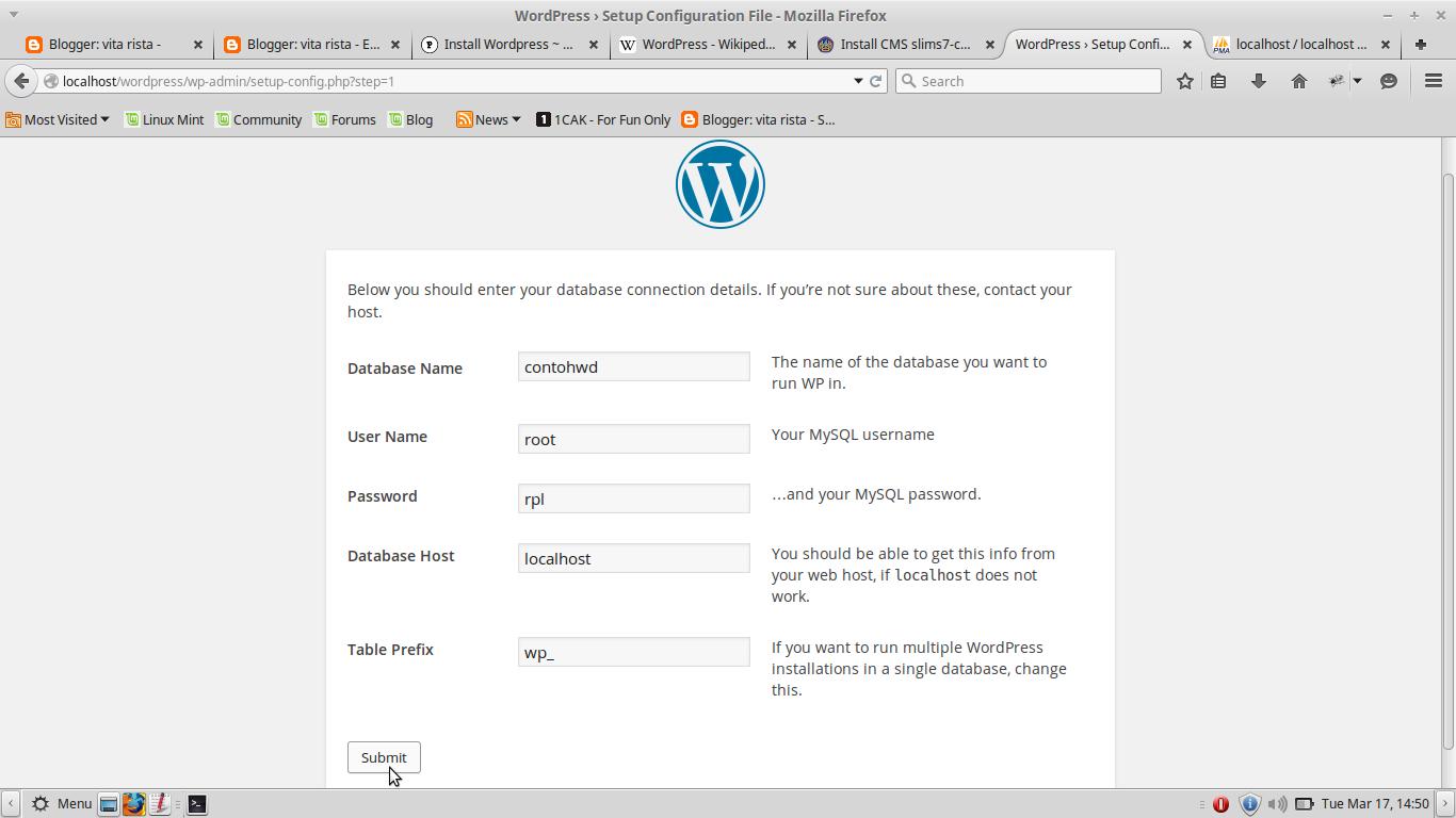 Instalasi WordPress vita rista