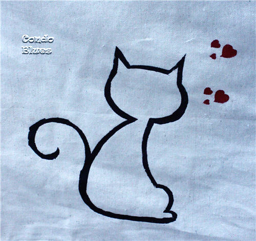 stenciled cat
