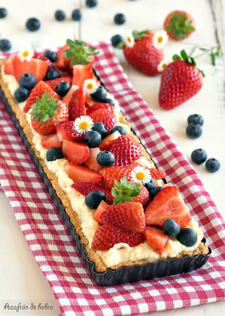Tartaleta de crema Camy y fresas