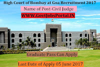 High Court of Bombay at Goa Recruitment 2017– Civil Judge