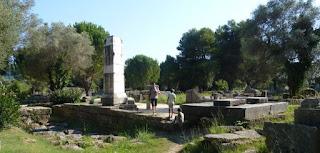 Yacimiento arqueológico de Olimpia.