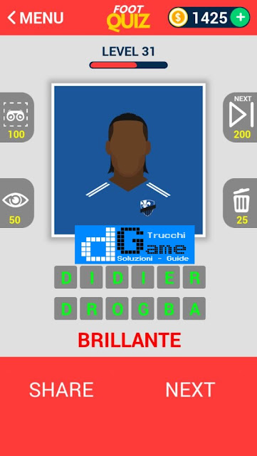 FootQuiz Calcio Quiz Football ( VISO) soluzione livello 31-40