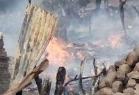 Kebakaran di Nangawera, Delapan Rumah Warga Hangus