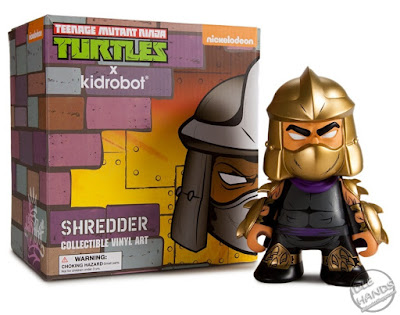 "san diego comic-con 2016 kid robot exclusive Teenage Mutant Ninja Turtles Gold ""Shredder"" 7-inch Figure"