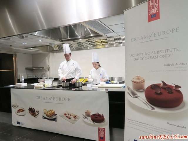 Chef Frederic Oger also demonstrated Malaysian inspired 2 recipes such as Opal Passion Cake and Lady Grey Magnum using European Creams