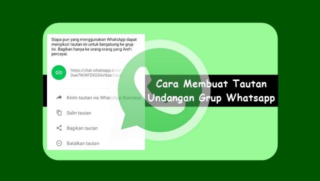 Cara Membuat Tautan Undangan Grup Whatsapp