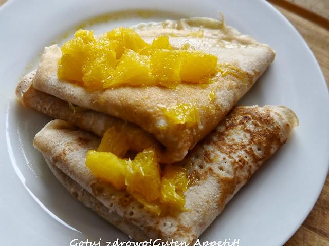 Naleśniki orkiszowo-gryczane z serowo-chałwowym nadzieniem i pomarańczą - Czytaj więcej »