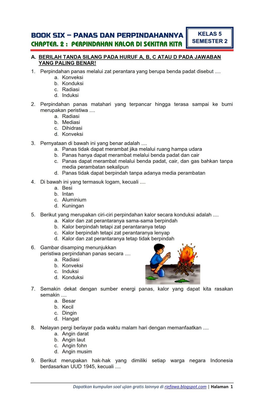 Soal Tema 6 Kelas 5 Panas Dan Perpindahannya : kelas, panas, perpindahannya, Download, Tematik, Kelas, Semester, Subtema, Panas, Perpindahannya, Perpindahan, Kalor, Sekitar, Edisi, Terbaru