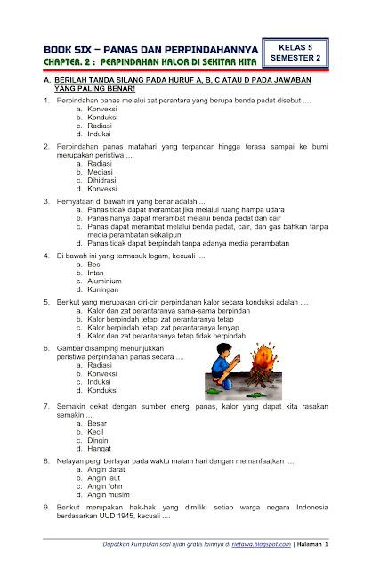 Soal Uts Kelas 5 Tema 6 Revisi 2017 : kelas, revisi, Contoh, Tematik, Kelas, Bahasa, Indonesia, IlmuSosial.id