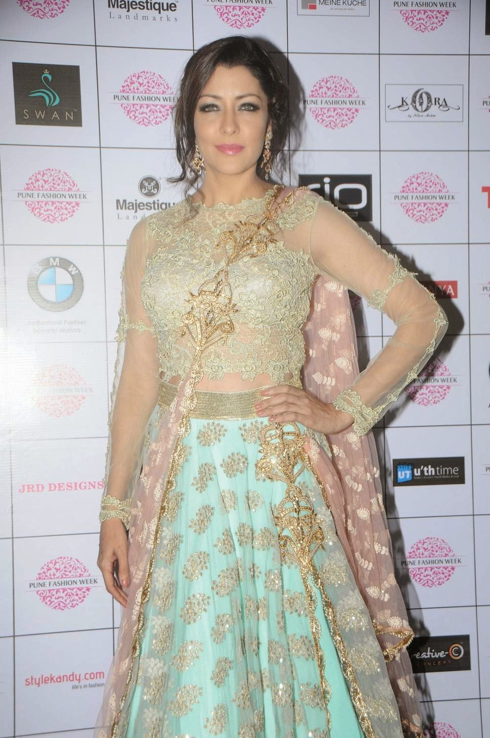 Actress Aditi Gowitrikar Latest Cute Hot Spicy Photoshoot Gallery At Pune Fashion Week 2014