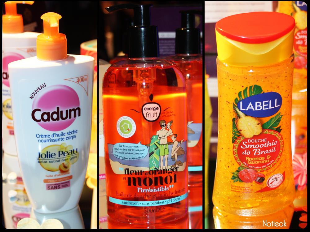 Cadum, Energie fruit et Labell Gels Douches Smoothies Dô Brasil