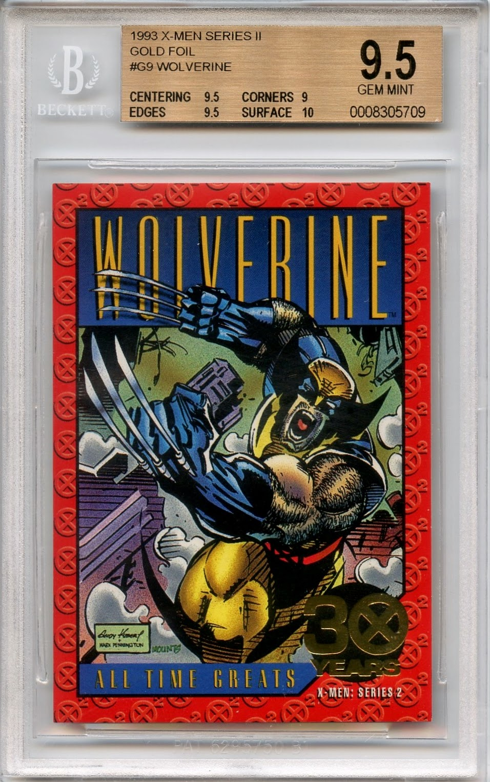 87a417869d8 ... 2-3 per box. I sold two Wolverine BGS 9.5 s - one about two years and  another just this last month. Below is a picture of the card from the  latest sale.