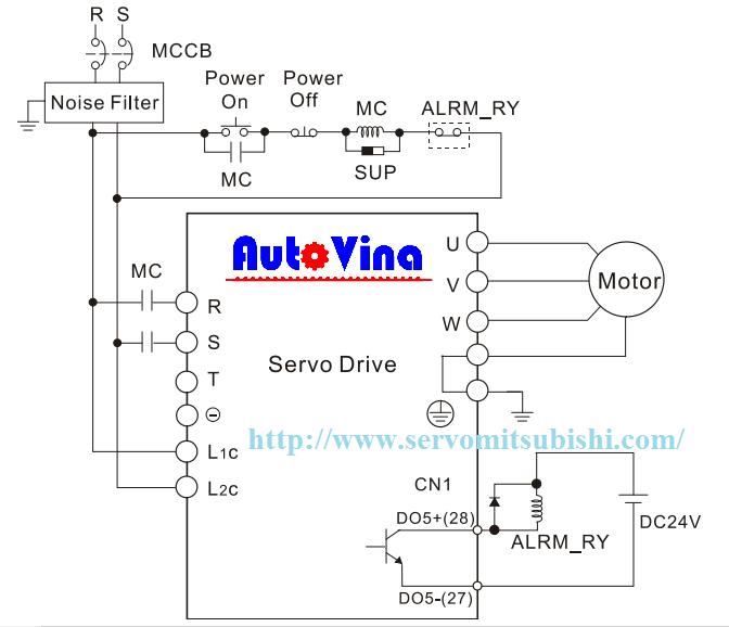 Sơ đồ đấu nối Servo ASD-B2-0721-B ASD-B2-1021-B ASD-B2-1521-B