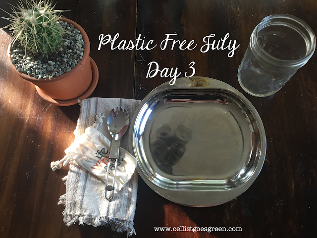 Plastic Free July Day 3 Bring your own dinnerware