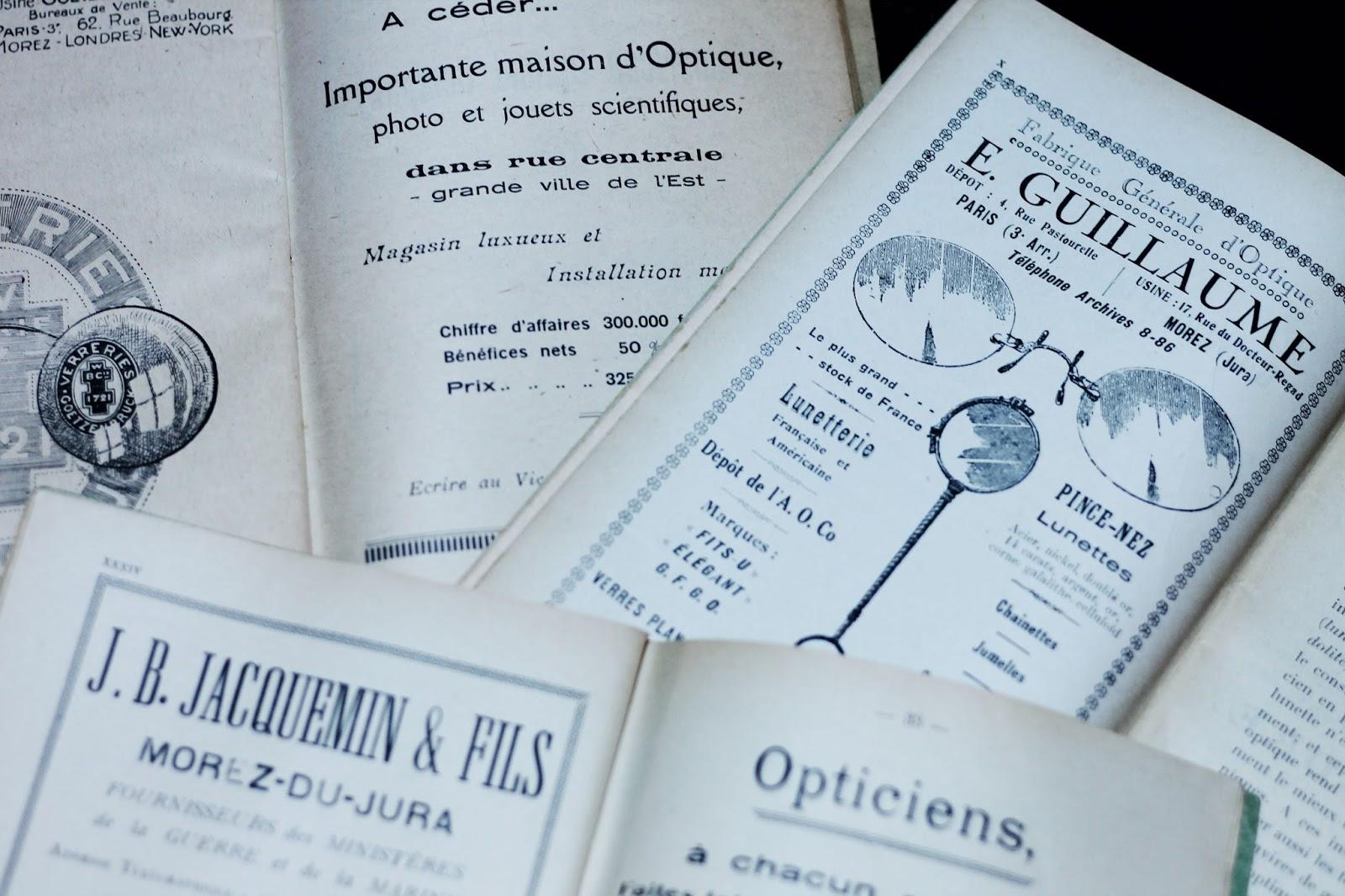 Affiches publicitaires anciennes bulletin d 39 opticiens - Ancienne baignoire en 3 lettres ...