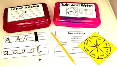 Fast Finisher Bins are for students who fin their class work quickly.  Student work quietly at their seats while their classmates finish.