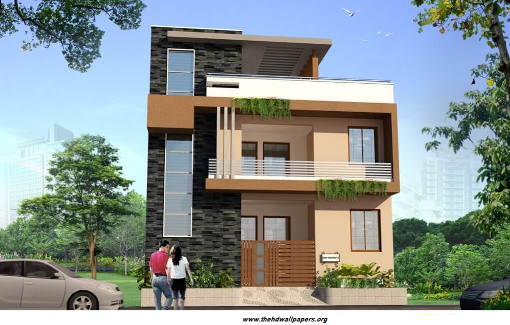 Front Elevation Of Duplex House Photographs : Double story duplex house front elevation d designe photo