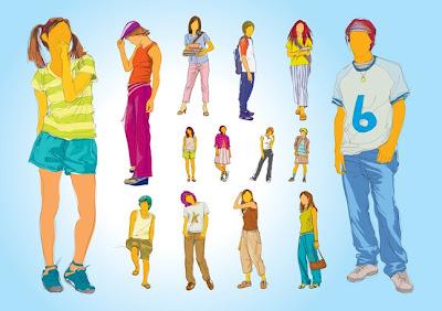 vectores de adolescentes