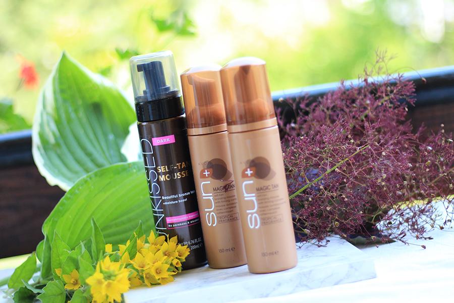 Kosmetyki do pielęgnacji ciała - samoopalacze Avon & Sunkissed