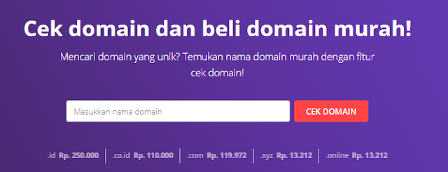 Cek & Daftar Domain Murah