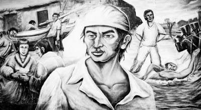 Imagen de José Olaya en mural