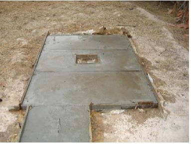 The Dimensions of outlet Slabs