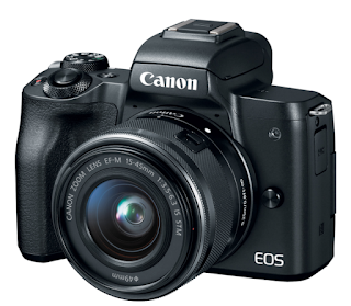 Canon EOS M50 - Black with EF-M 15-45mm STM Lens