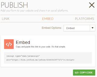 Copas code html tersebut ke dalam website atau blog