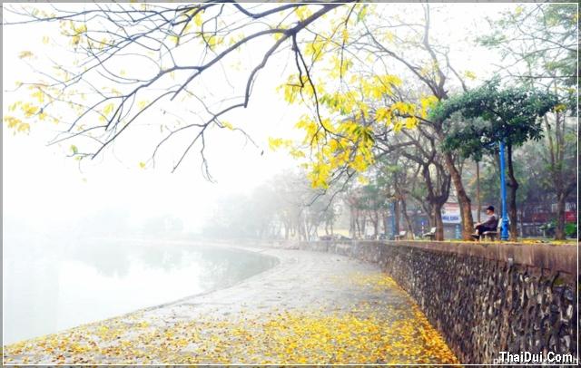 Hà Nội sương phủ lúc đông sang
