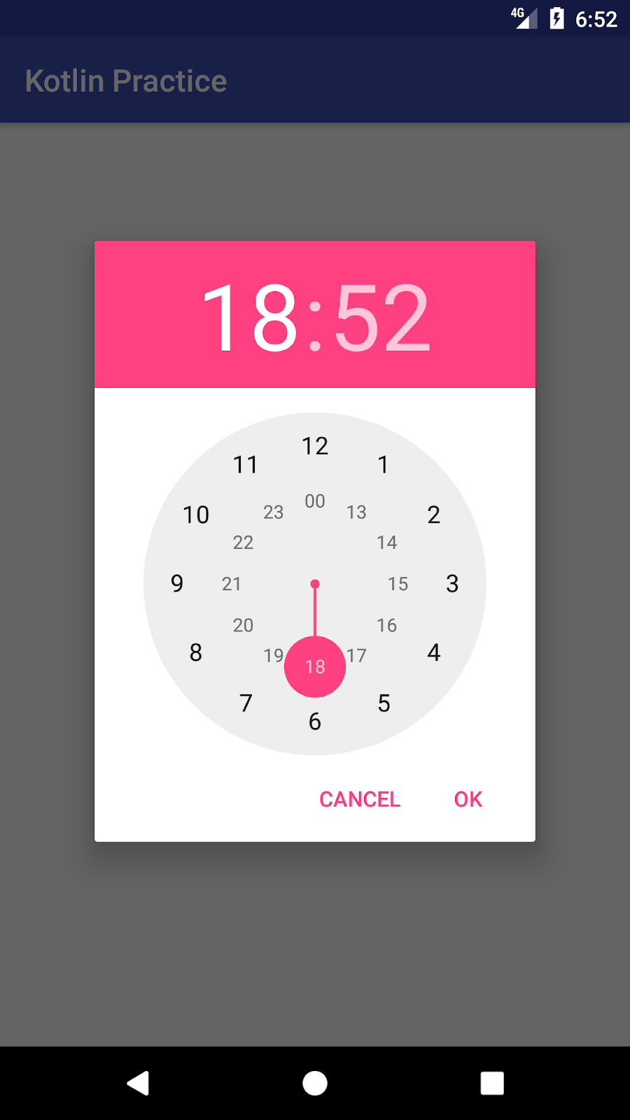 Time Picker Dialog (Kotlin) - Android Studio