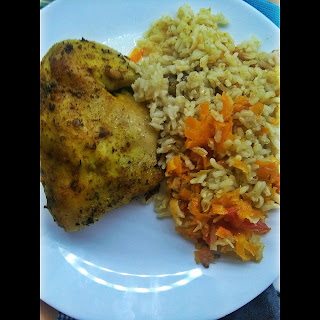 kurczak z ryżem z piekarnika