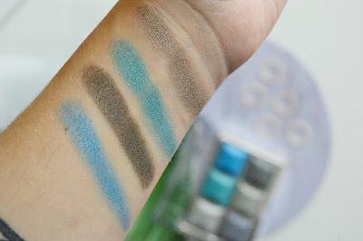 Ukázka pigmentace paletky od Technic cosmetic.