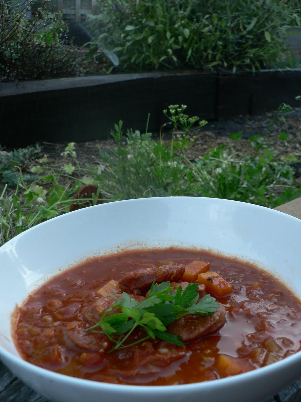 Grow Eat Run: Chorizo & Sweet Potato Soup