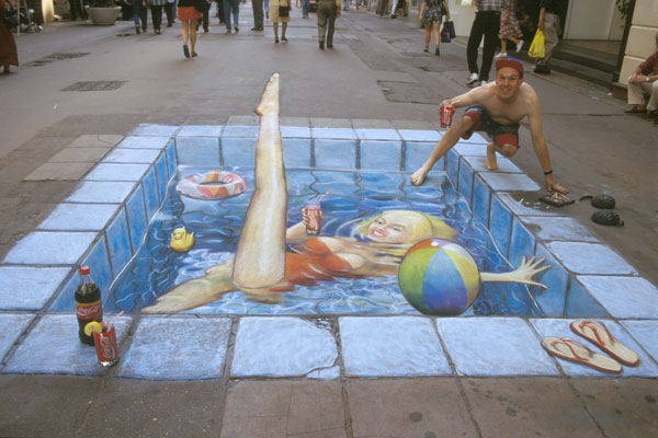 03-Swimming-Pool-Julian-Beever-3D-Pavement-Drawings-Anamorphic-Illusions-www-designstack-co