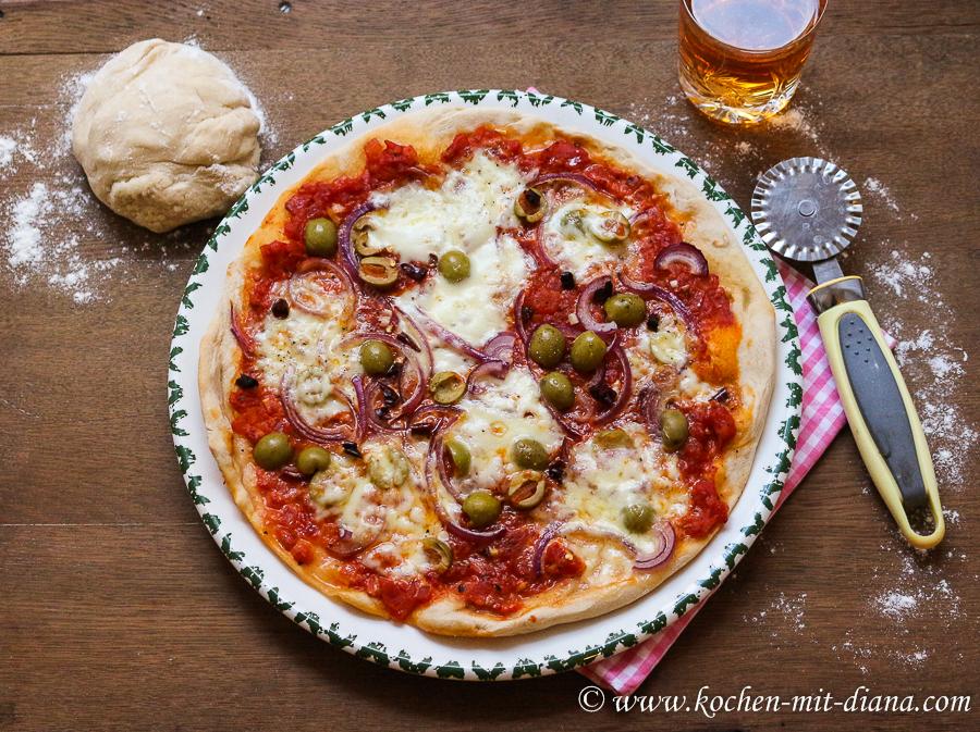 Scharfe Pizza Margherita