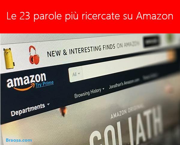 Le parole più ricercate su Amazon