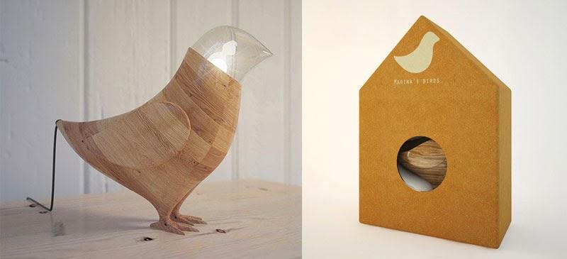 a lámpara de mesa Marina's Birds diseñada por Fajno