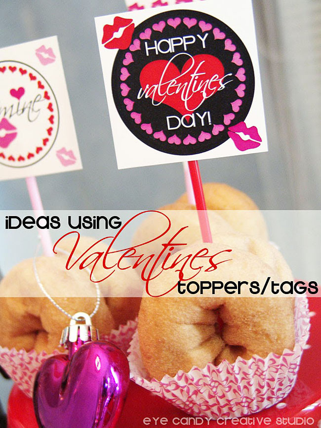 using valentines toppers, valentines day, hearts, lip prints, valentines ideas