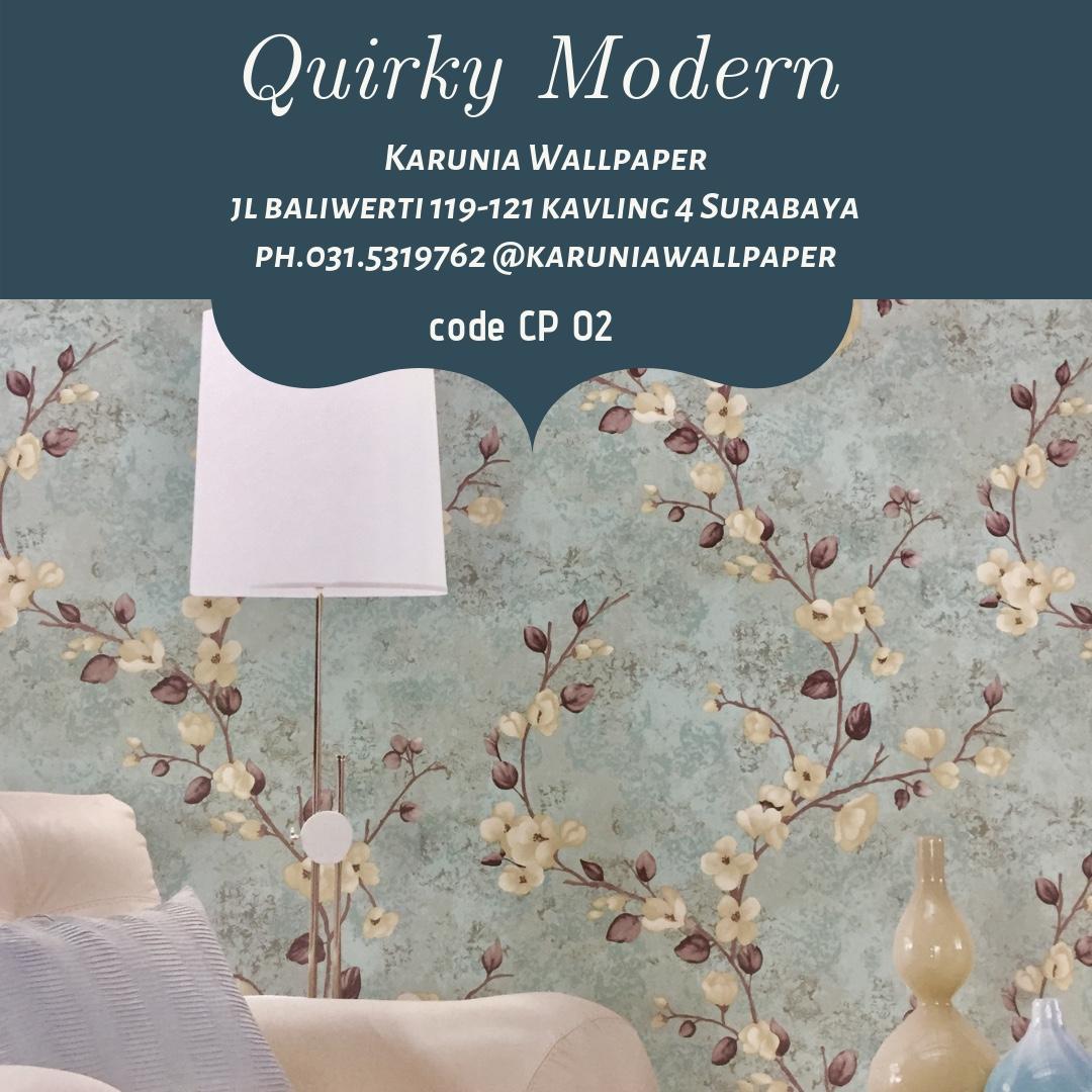 jual wallpaper dinding bunga klasik surabaya
